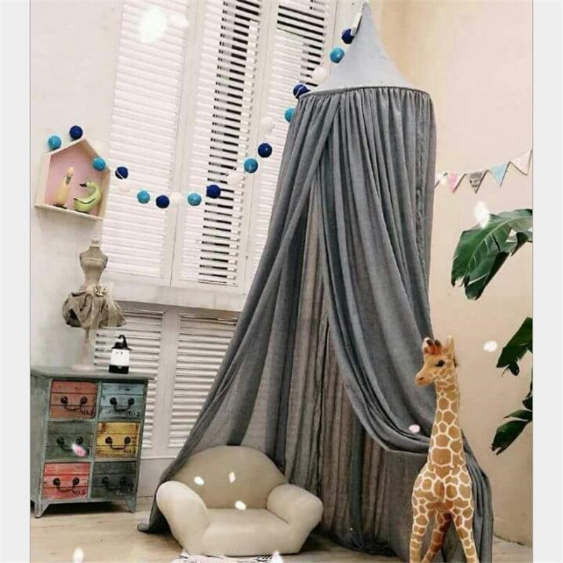 Infant Palace Bed Curtains Baby Crib Bed Mantle Play Game Tent Kids Children Room Decor Sleep Bedside Netting Mosquito Net