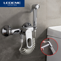 LEDEME Bidet Faucets Bathroom Tap Bidet Toilet Sprayer Bidet Washer Mixer Shower Bidet Double Switch Hot and Cold Water L5249