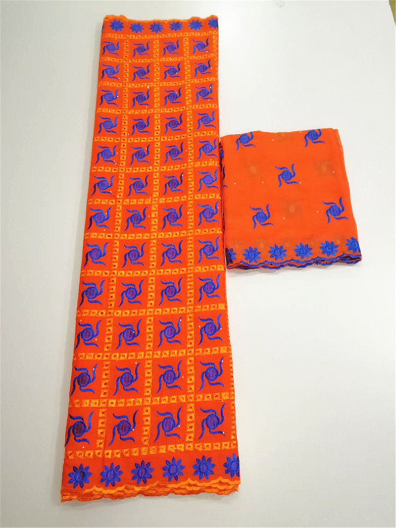 Nigeriaanse kant stoffen dubai stof zwitserse voile kant in zwitserland coton dentelle broderie tissu borduurwerk lace7yard/lotLUB -in Textieldecoratie van Huis & Tuin op  Groep 2