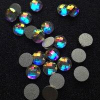 288 Unids 6,8mm 2001 Crystal AB crystal 3D Nail Art Tips Herramientas Para El Arte Del Clavo Rhinestone Decoración De Uñas Zapatos de la Ropa Decoratio