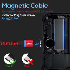 Image 2 - TOPK [5   Pack] RLine   R แม่เหล็กสาย USB Type C สำหรับ Samsung Galaxy S9 Plus OnePlus 6 ประเภท   C USB C