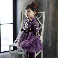 Witches Dress For Girls Halllloween Cute Clothes For Girls Wizard Party Clothing For Baby Kids Age
