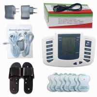 Electrical Stimulator Full Body Relax Muscle Digital Massager Pulse TENS Acupuncture With Therapy Slipper 16 Pcs
