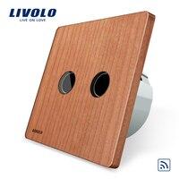 Natural Style Cherry Wood Panel EU Standard Wall Light Remote Switch No Mini Remote VL C702R