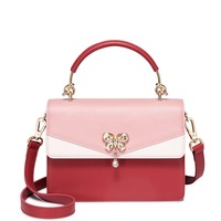 Brand Women's PU Leather Handbags Ladies Fashion Diamond Butterfly Tote Purse Female Panelled Flap Crossbody Bags