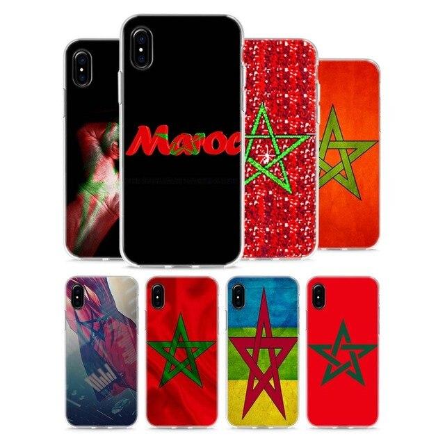Trong suốt Mềm Silicone Trường Hợp Điện Thoại MA Maroc Morocco Cờ Phong Cách đối với Apple iPhone X 8 7 6 6 s Cộng Với 5 5 s SE 5C