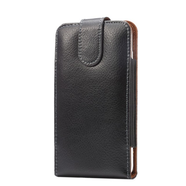Genuine Leather Belt Clip Pouch Cover Case for ZTE Obsidian/Maven Z812/Overture 2/Fanfare/Speed N9130 4.5Inch