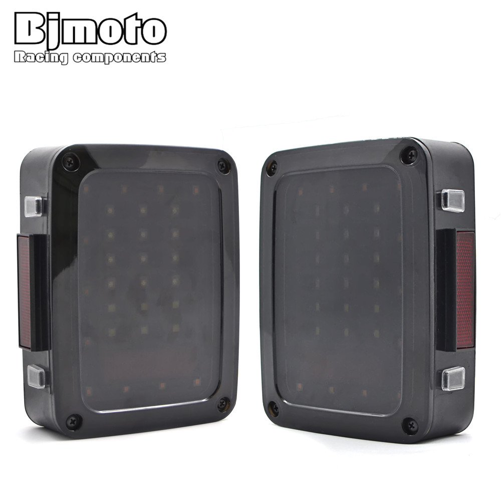 BJMOTO The Newest LED Tail Light With Brake Turning Reverse Light For Jeeps Wrangler Jk 2007-2016 Replacement newest design led tail light black with smoke lens led tail light for jee p wrangler jk jku 2007 2016