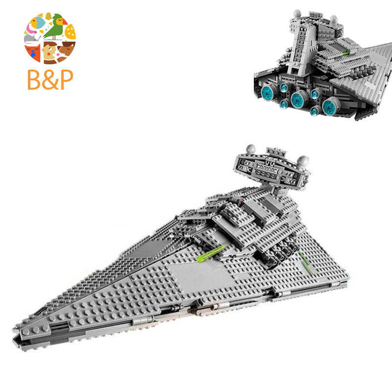 Legoing 75094 Star Series War 1359Pcs The Imperial Super Star Destroyer Model Building Blocks Bricks Toys Kids Gift LEPIN 05062