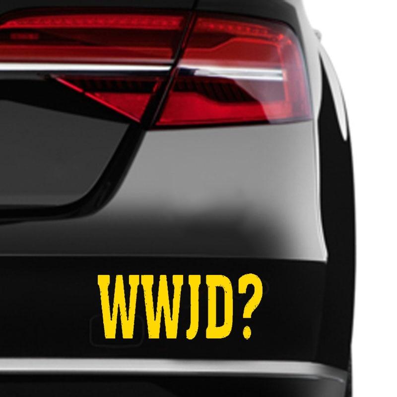 HotMeiNi Car Sticker Jdm styling Window Bumper Vinyl Truck Body Decal Waterproof Hot Sale Wwjd? What Would Jesus Do? 5*2inch
