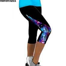 2016 Women Leggings High Waist Fitness Sport  Printed Pants Stretch Cropped Casual Miti-Colors Only the