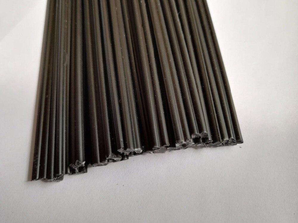 20PCS Black PP Plastic Welding Rods Sticks 5mmx2.5mm With Corrosion Resistance For Plastic Welder 20CM