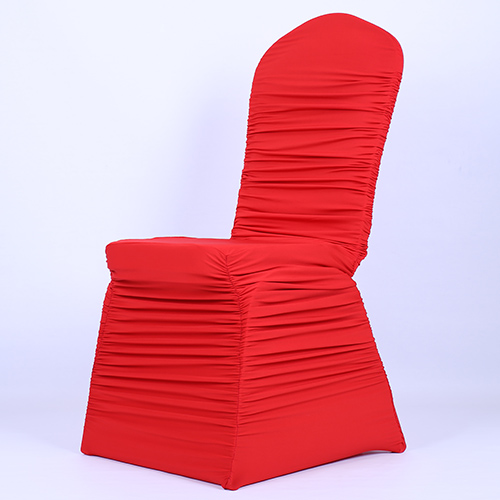 Ruched Spandex Chair Cover Diy Hammock Stand Plans 100 Pcs Free Shipping Red Pleated Lycra Customized Color