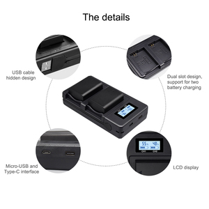 Image 2 - NP FW50 NP FZ100 NP F960 970 NP FV100 LCD USB Dual Charger for Sony camera  battery