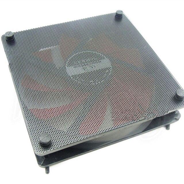 5PCS/lot 120mm Cuttable Black PVC PC Fan Dust Filter Dustproof Case Computer Mesh 3