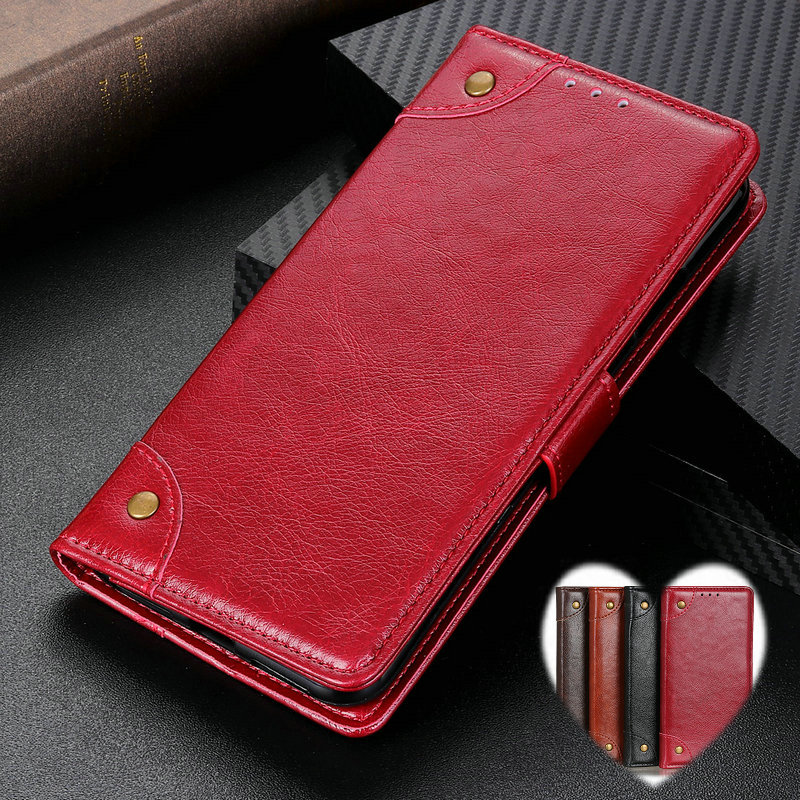 Flip Case For Samsung Galaxy A10 A20 A30 A40 Case Leather Luxury Wallet Business Vintage Book