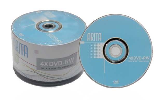 ARITA rewritable DVD-RW 4.7GB 4X 50pcs/lot free shipping цена