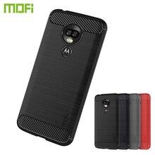 MOFi For MOTO G7 Power EU Version Case Armor Shockproof Cover Carbon Fiber Silicon TPU Back