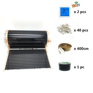 Image 4 - 20m2 Electric Heating Film 50cm 80cm 100cm Width Infrared Floor Heating Film with Wifi Room Thermostat