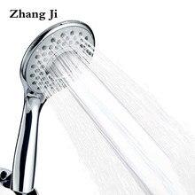ZhangJi łazienka okrągły 3 tryby głowica prysznicowa Spray regulowany plastik ABS dysza prysznicowa wysokociśnieniowa głowica prysznicowa