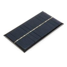ANBES Solar Panel 6V 1W Universal Solar Panel Standard Epoxy 110x60mm Mini Solar Cell Polycrystalline Silicon DIY Battery Power