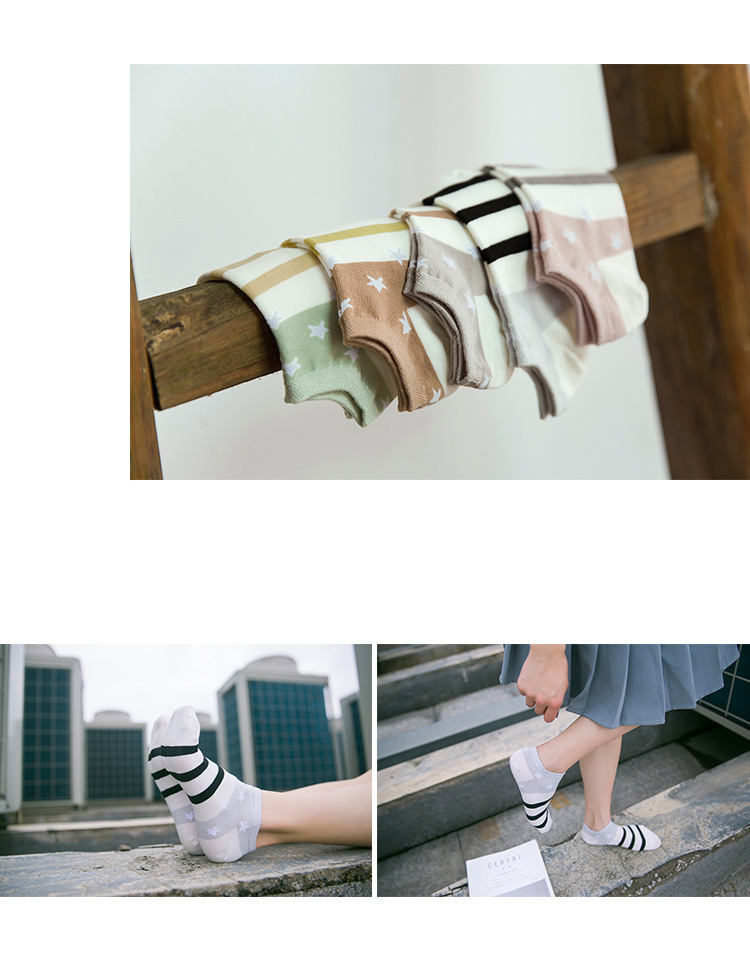 HTB1kPXhRVXXXXcLXXXXq6xXFXXXC - Cotton Boat Socks Woman Stars Stripe Socks ankle low female invisible color girl boy slipper casual hosiery  1pair=2pcs ws106