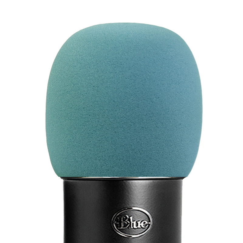 SHELKEE Foam Microphone Windscreen for Blue Yeti ,Yeti Pro condenser microphones- as a pop filter for the microphones Sky gray