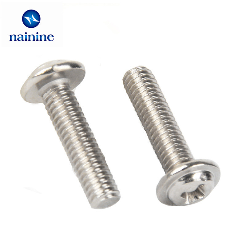 50Pcs M2 M2.5 M3 PWM Pan Electronic Screw Referral Computer Chassis Fixed Motherboard Screws With Pad SS10 niko 50pcs chrome single coil pickup screws