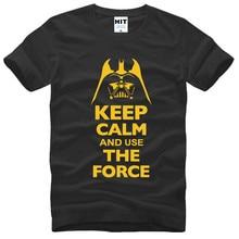 Keep Calm and Use The Force Print STAR WARS Movie T Shirt Tshirt Mens Men Fashion 2016 Cotton T-shirt Tee Shirt Homme