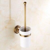 European Style Toilet Brush Set Copper Toilet Rack Toilet Kit Brass Super Large Chassis Toilet Bowl
