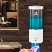 500ML Hotel Auto Induction Free Punching Wall Mount Pump Foam Spray Lotion Drop Liquid Soap Container Dispenser Shampoo Box