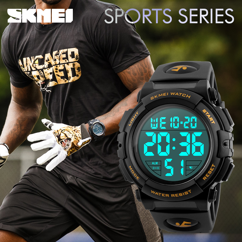 SKMEI Mens Sports Watches Brand Luxury Military Electronic LED Digital Wristwatches Waterproof Relogio Masculino Relojes 1258 все цены