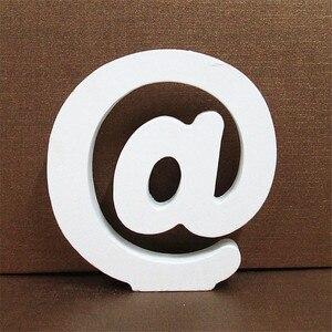 1 قطعة 10 سنتيمتر X 10 سنتيمتر الأبيض خشبية إلكتروني الإنجليزية الأبجدية DIY مشخصنة اسم تصميم الفن الحرفية بذاتها القلب ديكور منزلي للزفاف