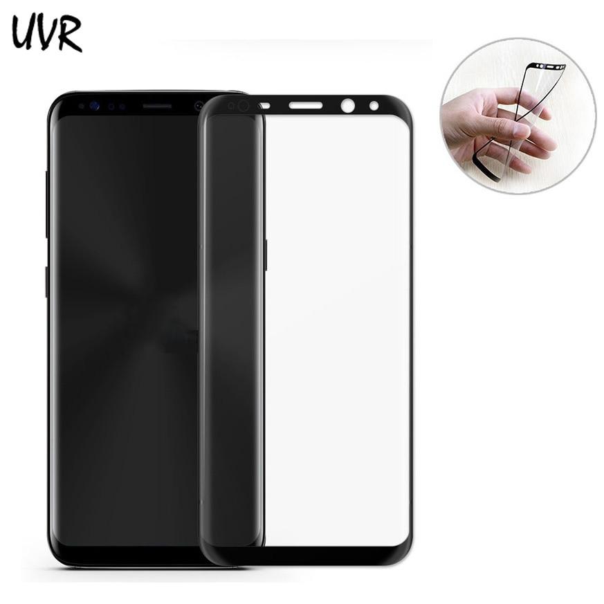 Para Samsung Galaxy S8 S8 Plus Protector de pantalla de PET blando 3D Película protectora de cubierta completa curvada Para película S8plus Vidrio no templado