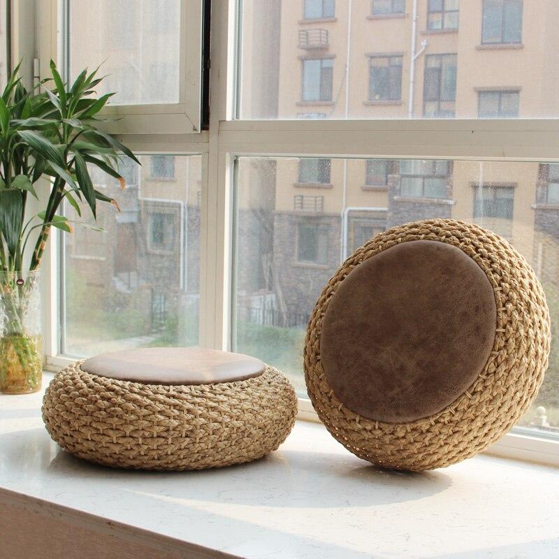Hot Natural Straw Round Tatami Hand Made Cushion Meditation Thickening Seat MatHot Natural Straw Round Tatami Hand Made Cushion Meditation Thickening Seat Mat