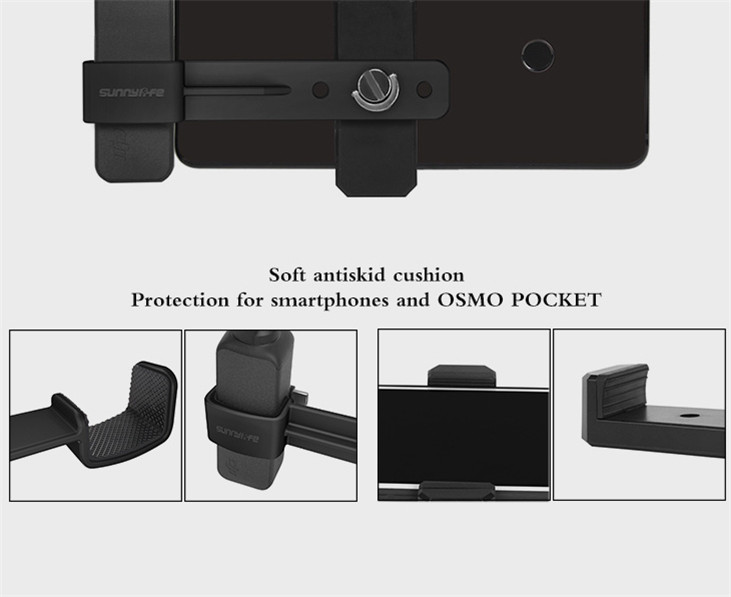OSMO Pocket Smartphone Fixing Bracket Stand Clamp Extending Rod Tripod for DJI OSMO POCKET Gimbal Accessories 7