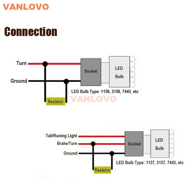 Résistance à la charge de 50W 6ohm | Indicateur dampoule, éliminateur de Flash, relais CANBUS, erreur gratuite