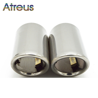 Atreus 2PC Car Stainless Steel Exhaust Tip Muffler Pipe Cover For Audi A4 B8 A6 C6