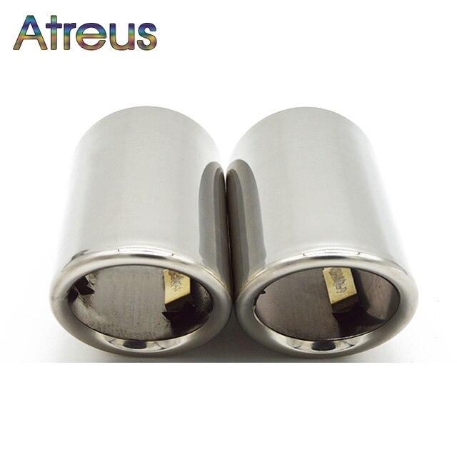 Copertura del tubo del silenziatore della punta di scarico dellacciaio inossidabile dellautomobile di Atreus 2PC per Audi A4 B8 A6 C6 accessori per Audi A3 A5 Q5 Q7 Q3 A1 S line