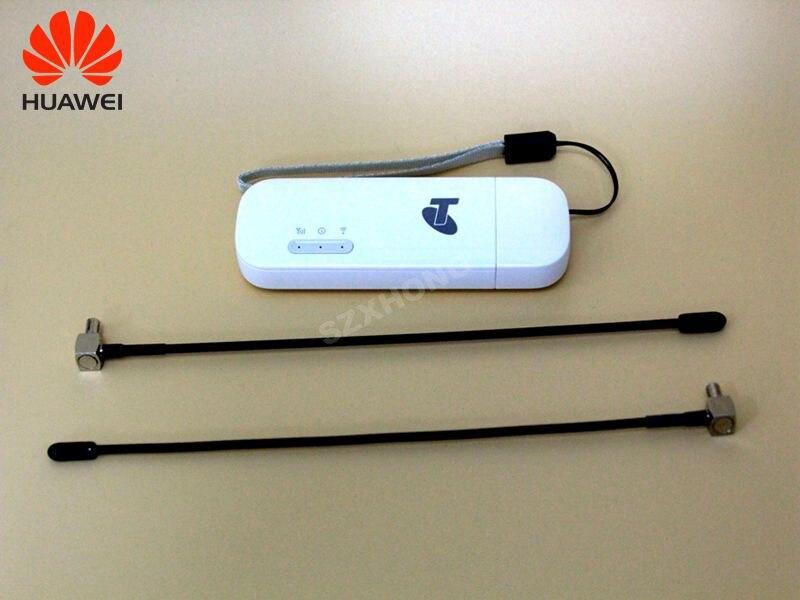 Nouveau Débloqué 150 Mbps E8372 E8372h-608 4g LTE Wifi Modem dongle CAT4 USB bâton données carte Huawei Original avec TS9 antenne