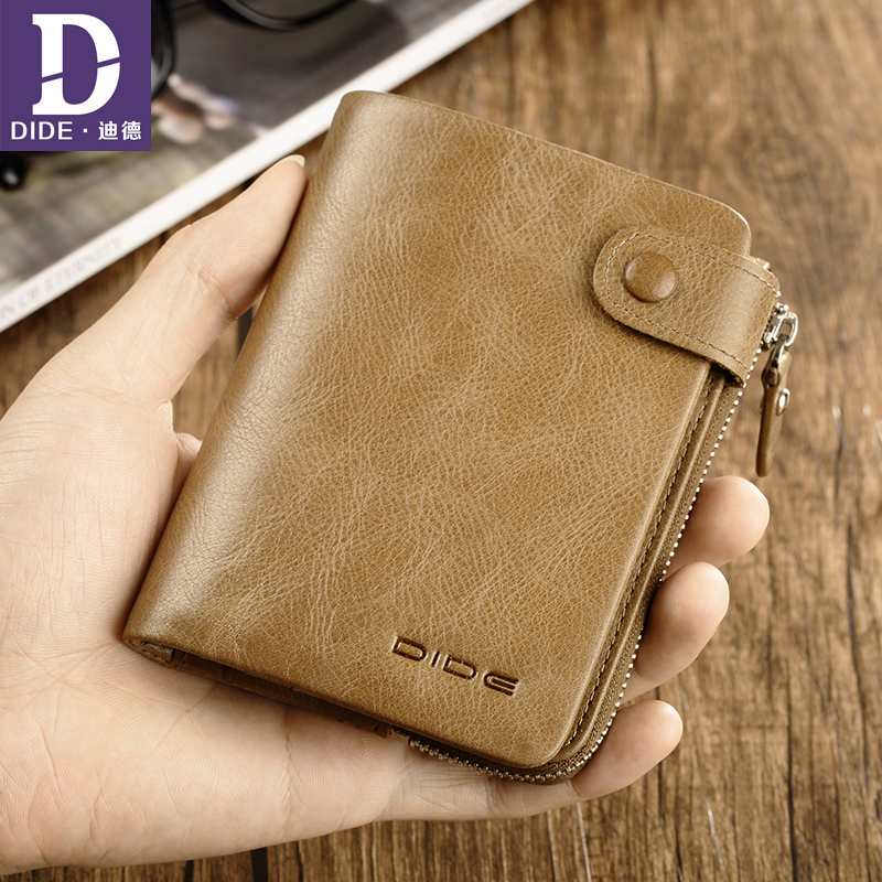 DIDE 2018 New Design Genuine Leather Cow Wallet Men Male Coin Purse Card Holder Chinese famous brand DQ772 new design chinese