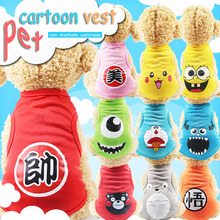 Cartoon Dog Shirt Cheap Dog Clothes For Small Dogs Summer Chihuahua Tshirt Puppy Vest Yorkshire Terrier Shih Tzu Pet Clothes