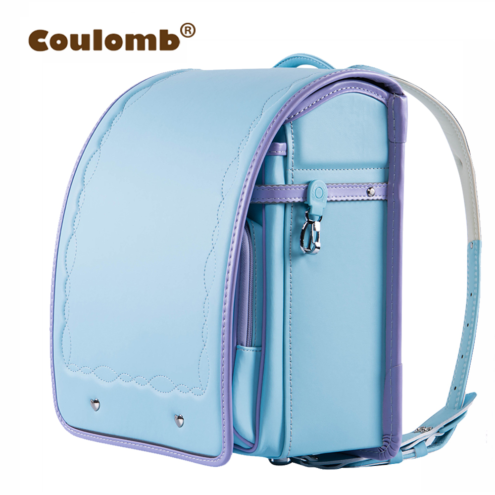 Coulomb Children's Backpacks For Girls School Bags For Kids Orthopedic Backpack Female Satchel High Quality Japanese Pu Love NEW