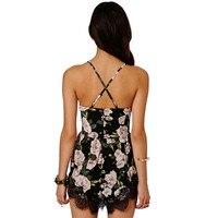 2017 Summer Most Popular Women Floral Lace Chiffon Bodycon Jumpsuit Party Playsuit Romper Dress