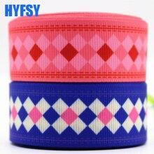 Hyfsy 10097 25 мм в клетку лента 10 ярдов DIY головные уборы подарочная упаковка ручной работы ремень ленты в крупный рубчик