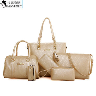 HANSOMFY  2015 New Type Bag Pack 6 Six Sets Of European And American Fashion Simple