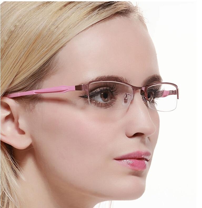 Para mujer blear ojos gafas para miope miope anteojos mujeres moda ...