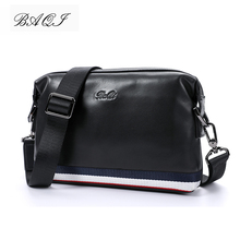 купить BAQI Brand Men Handbags Shoulder Bag 2019 Fashion Genuine Leather Cowhide High Quality Men Crossbody Messenger Bags Casual Bag по цене 2507.55 рублей