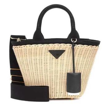 Women's bag luxury handbags rattan Straw crossbody bags for women Genuine Leather beach basket bags original brand designer 2019 1
