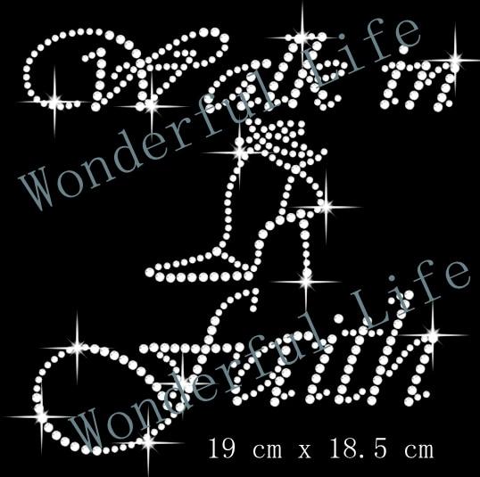 A quality Wonderful Life Walk In Faith Iron On Hotfix Diamante Motif  Rhinestone Transfer free shipping 99309d90516a